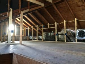 Brick House Renovation | Attic during