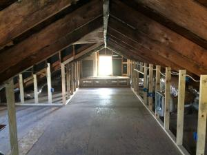 Brick House Renovation | Attic after