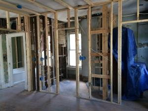 Brick House Renovation | Framing walls